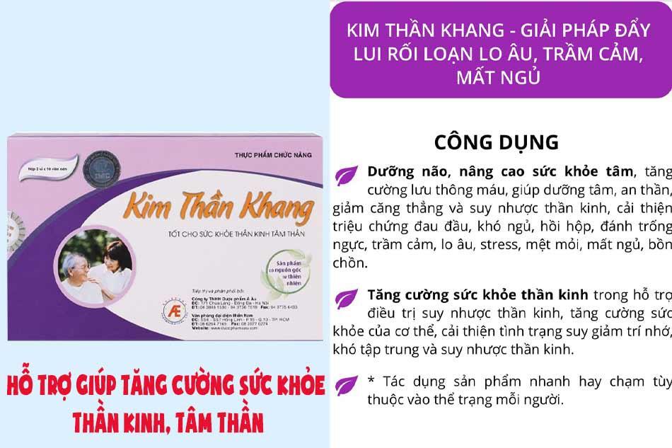 Tác dụng của Kim Thần Khang