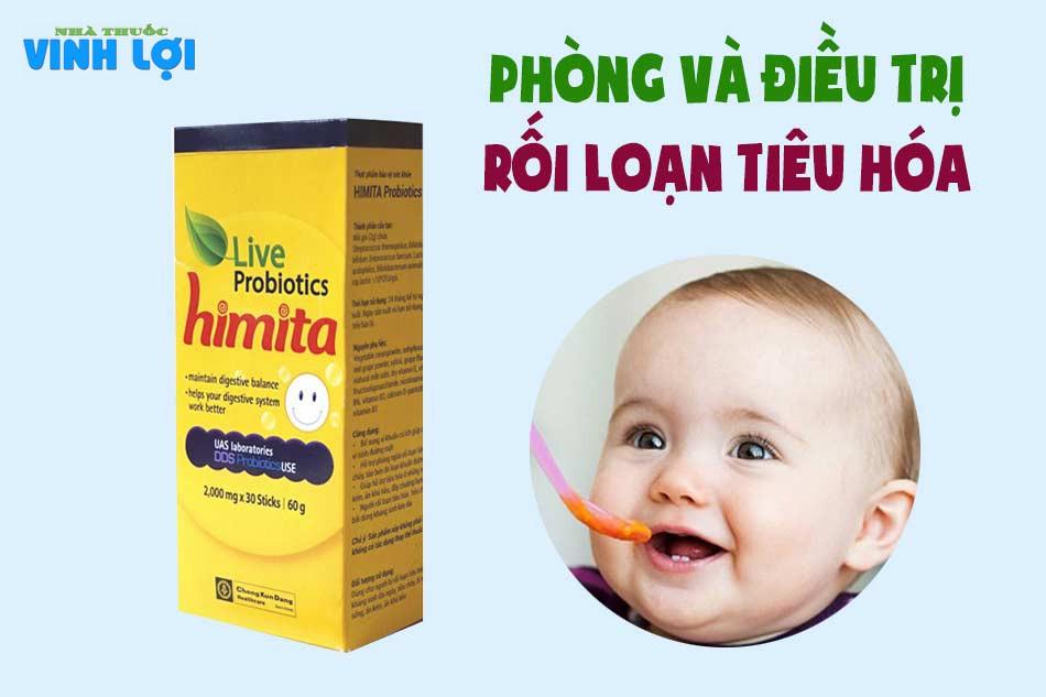 Tác dụng men tiêu hoá Live Probiotics Himita
