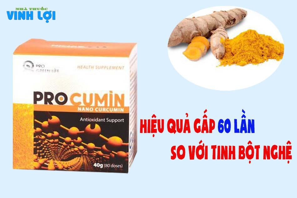 Công dụng của ProCumin Nano Curcumin