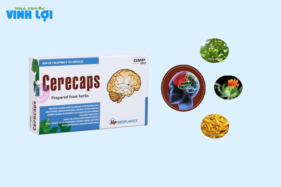 Thành phần của hoạt huyết Cerecaps