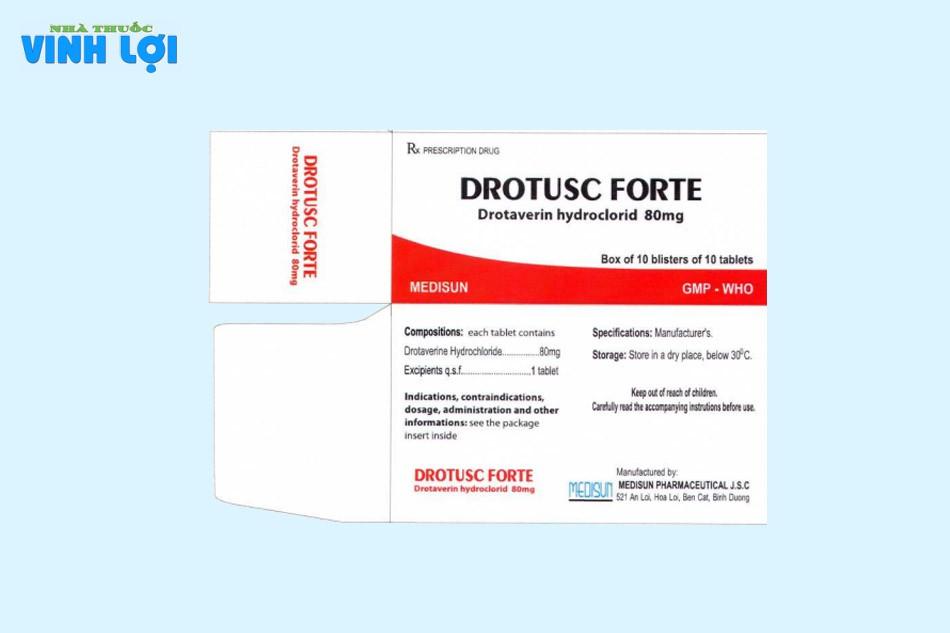 Thành phần của Drotusc Forte