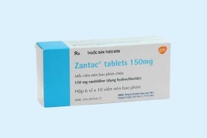 Thuốc dạ dày Zantac 150mg