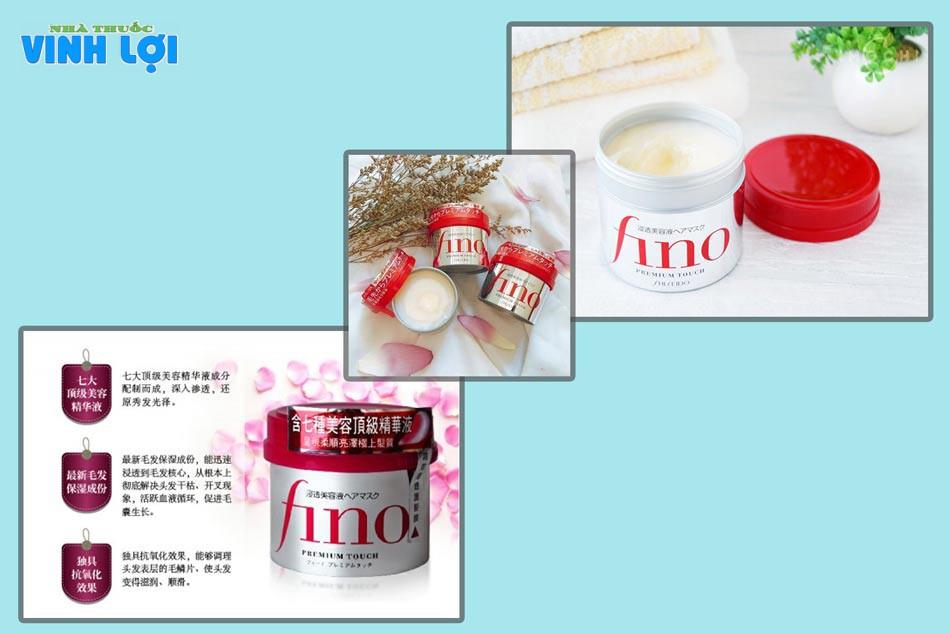 Kem hấp tóc và ủ Fino Shiseido dung tích 230ml đem lại những hiệu quả cho mái tóc đẹp