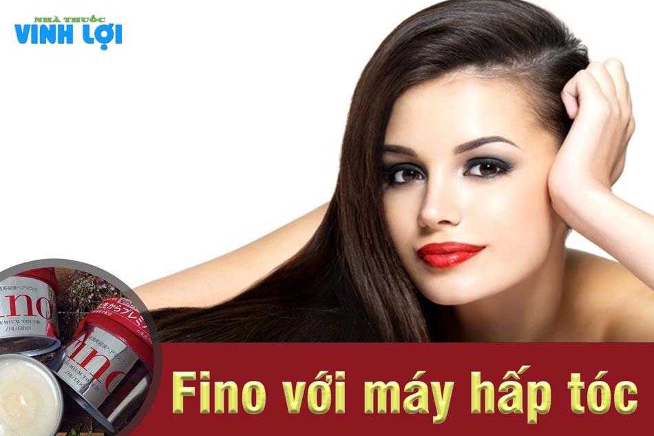 Sử dụng ủ tóc Fino kết hợp với máy hấp tóc