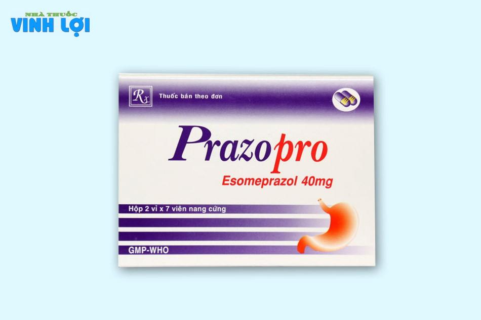 Prazopro 40mg thuộc nhóm thuốc trị đau dạ dày