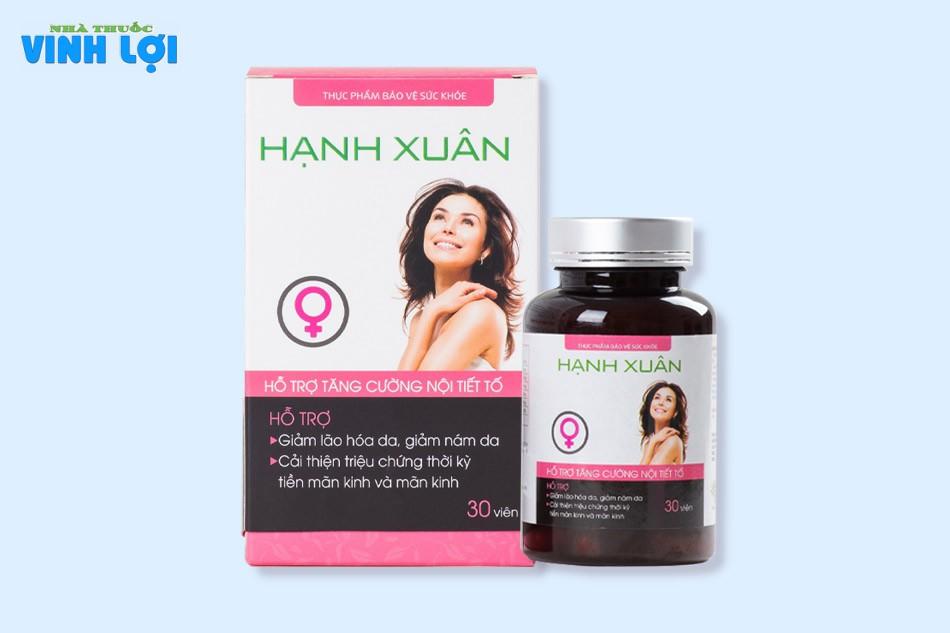 Viên uống Hạnh Xuân là thực phẩm chức năng dành cho nữ giới giúp tăng cường nội tiết tố, cải thiện đời sống sinh lý của chị em