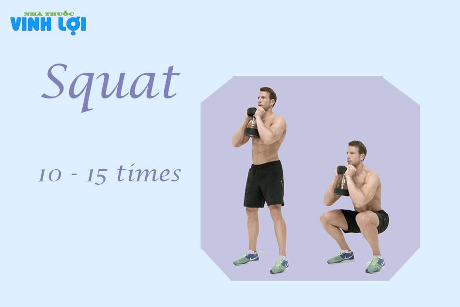 Bài tập Squat trị xuất tinh sớm nam giới