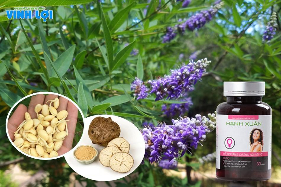 Hạnh Xuân là sản phẩm duy nhất trên thị trường có thành phần chứa đủ 3 loại vi chất đặc biệt quan trọng cho phụ nữ là: sâm tố nữ, mầm đậu nành, cây vitex.