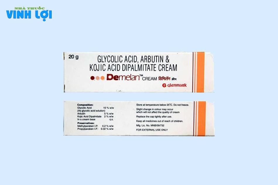 Kem Demelan chứa các thành phần có tác dụng nổi bật trên da
