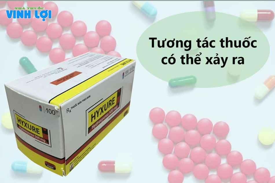 Tương tác thuốc khi sử dụng Hyxure