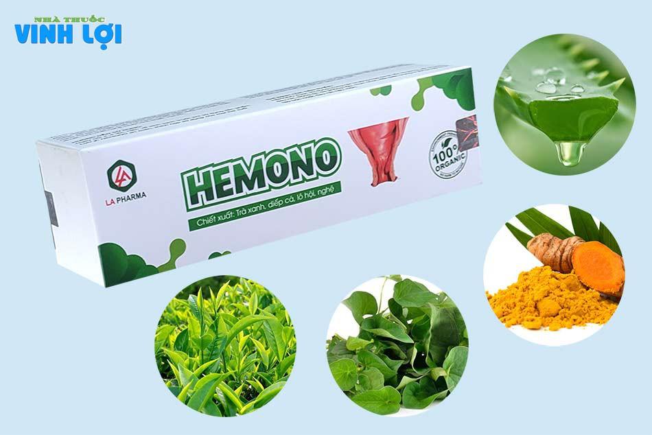 Thành phần của Hemono Gel