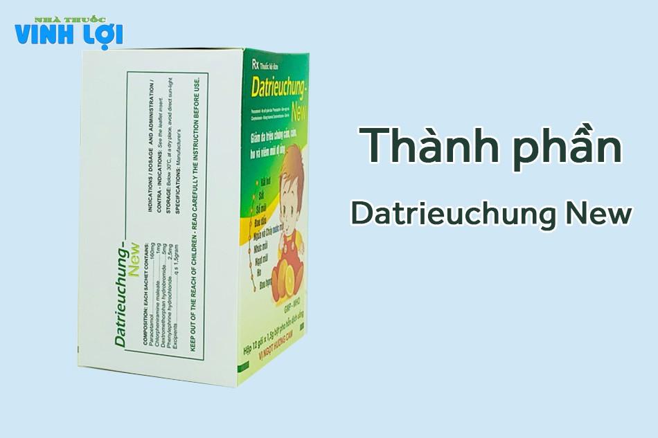 Thành phần thuốc Datrieuchung New