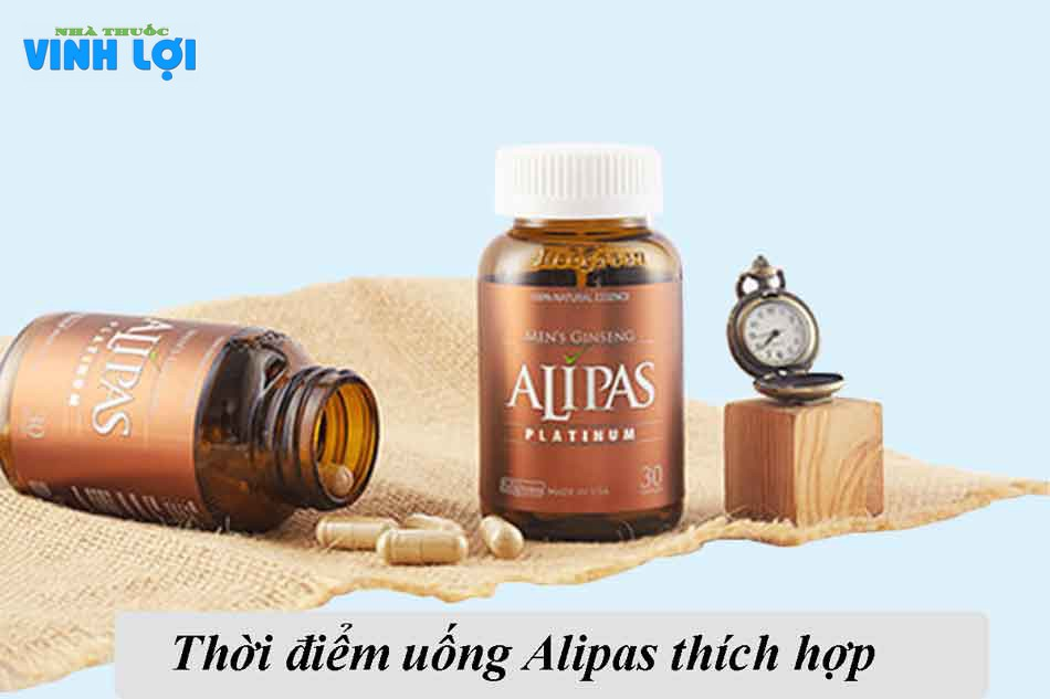 Uống sâm Alipas vào lúc nào, trong bao lâu?