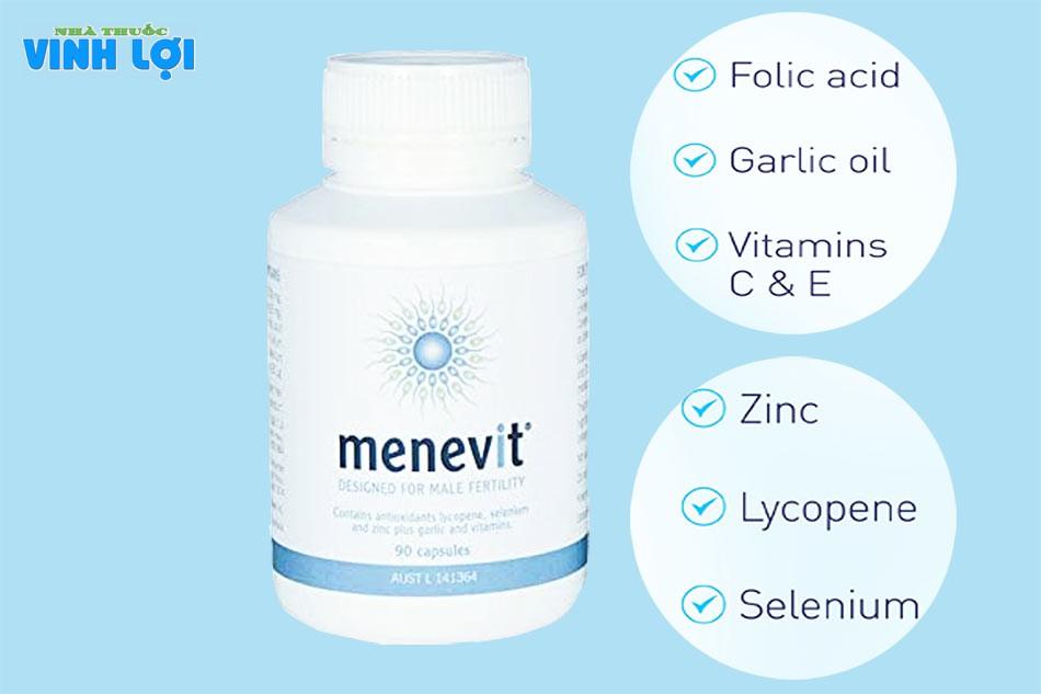 Thành phần của Menevit