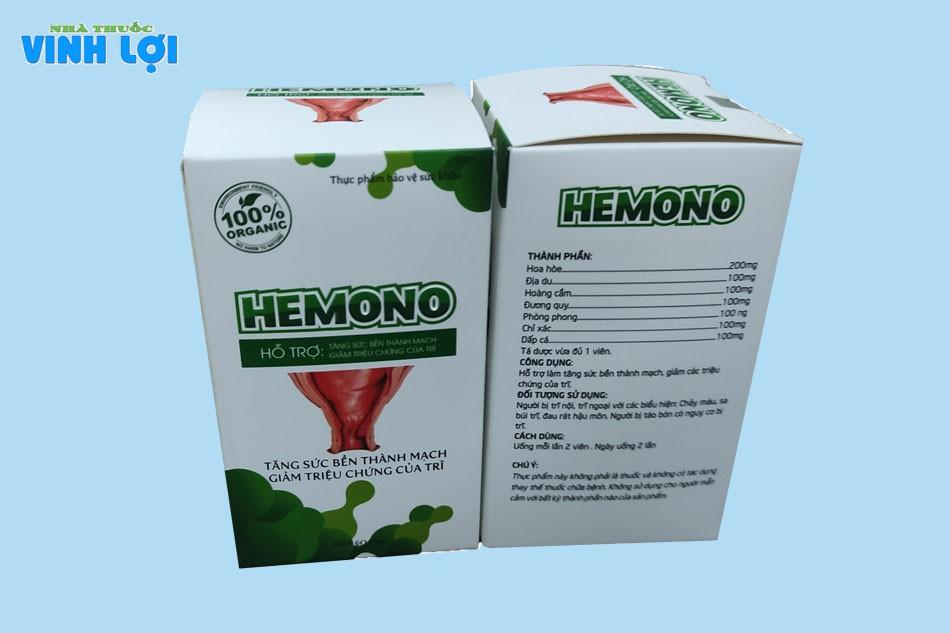 Thành phần của viên uống Hemono