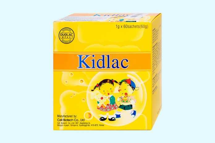 Men vi sinh Kidlac cho trẻ: Nâng cao sức khỏe đường ruột