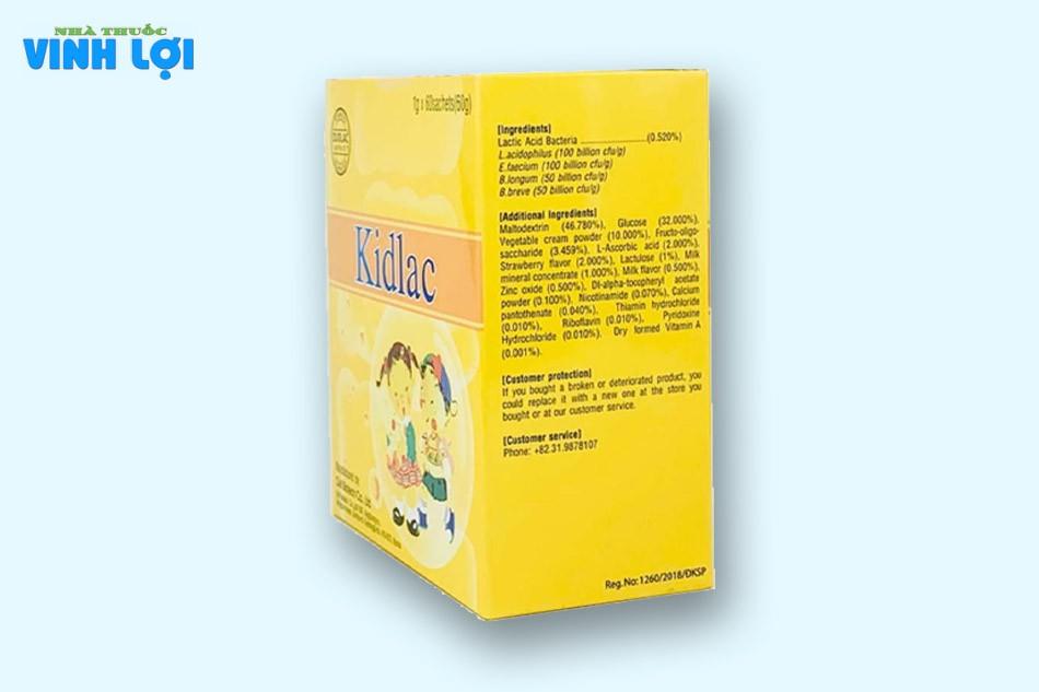 Tác dụng phụ của men vi sinh Kidlac