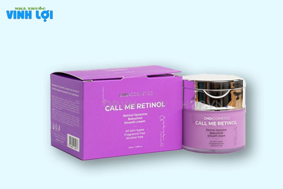 Thông tin về kem dưỡng da Call me retinol của Call me Duy